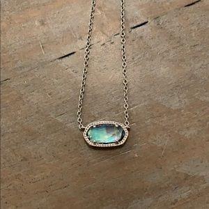 Kendra Scott silver abalone Elisa necklace